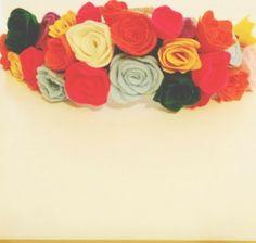 Felt Flower Crown: Half.