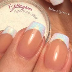 "Great idea for a french manicure using Glittergasm ""Reflections Glitter"""