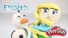 #1[Disney Frozen Princess Elsa] Play doh Character toy clay stop motion ...