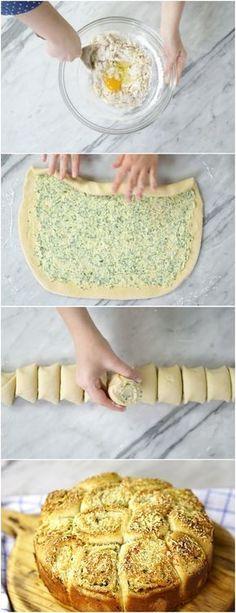Pão de Alho Rolls, vão fazer o maior sucesso no seu próximo churrasco! #PAO #paes #Paodealho #churrasco