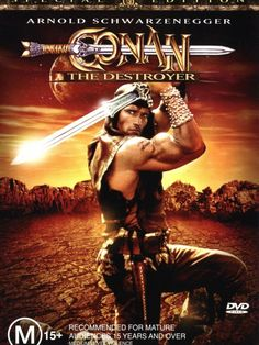 Conan the Destroyer is a 1984 American sword and sorcery/adventure film directed by Richard Fleischer, starring Arnold Schwarzenegger and Mako Iwamatsu reprising their roles as Conan and Akiro the wizard, respectively. The cast also includes Grace Jones, Wilt Chamberlain, Tracey Walter, and Olivia d'Abo. It is the sequel to Conan the Barbarian. https://en.wikipedia.org/wiki/Conan_the_Destroyer (fr=https://fr.wikipedia.org/wiki/Conan_le_Destructeur)