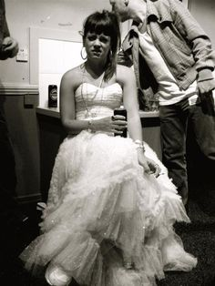 Lily Allen 2006 sneakers and prom dress. No one can top her style