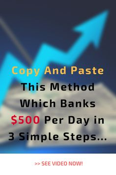 Copy And Paste This Method Which Banks $500 Per Day in 3 Simple Steps…. This Method reveals a secret traffic source that we use to generate CPA commissions of $500 per day on complete autopilot. SEE VIDEO NOW!  #fastcash #easymoney #makemoney Diy Money Making Crafts, Make Easy Money, Make Money Blogging, Make Money From Home, Way To Make Money, Make Money Online, Home Based Jobs, Work From Home Jobs, Money Images