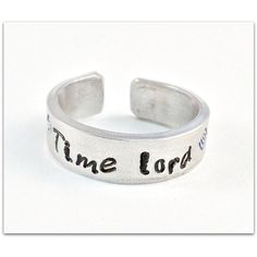 Time Lord Solid Aluminum Ring ($14) ❤ liked on Polyvore featuring jewelry, rings and travel