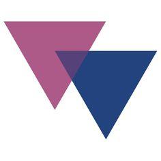 Bisexual Pride Symbol- Triangles by cadellin
