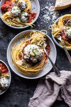 Spaghetti and Meatballs | halfbakedharvest.com @hbharvest https://www.pinterest.com/disneystudios/the-bfg/ #ad