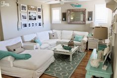 Beach Chic Meets Casual Coastal by Breezy Design at foxhollowcottage.com