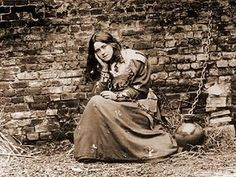 St. Therese of Liseux dressed as Joan of Arc.  A Saint as a Saint!