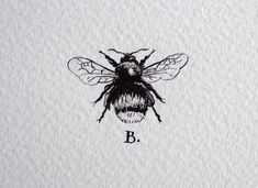 black and white bee tattoo - Google Search