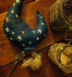 luna dream pillow for solstice gifts or winter handwork