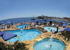 TAKE ME THERE NOW!!!  Radisson Malta, The Radisson SAS Bay Point Hotel St Julians - My son said this place is beyond beautiful!