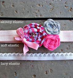 Dolly Rosette Headband Baby Flower Headband by extrafrostingplease, $8.50