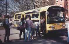 Cambus Coach # 60, operating on the University of Iowa campus. This bus is a 1977 Flxible, powered by a Detroit 6V71 diesel. Picture taken circa 1982.
