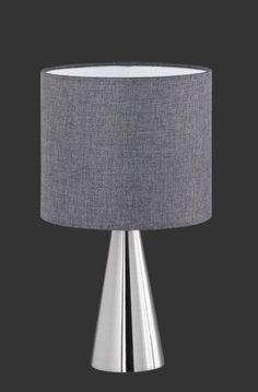 COSINUS Trio - stolná lampa - šedý textil - 350mm