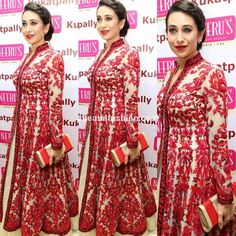 Karishma-Kapoor-in-red-anarkali