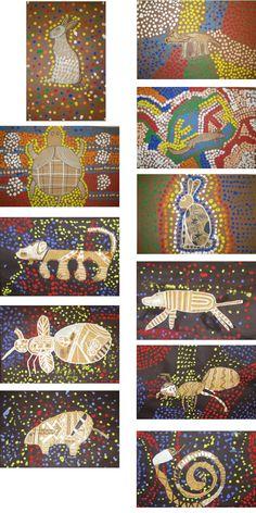 Aboriginal australia prints dotdot prints aboriginal australia rhinoplasty australia top 10 zoos in australia rhinoplasty australia Aboriginal Dot Painting, Aboriginal Dreamtime, Kunst Der Aborigines, Kindergarten Art Projects, Animal Art Projects, Ecole Art, Art Curriculum, Art Lessons Elementary, Australian Art