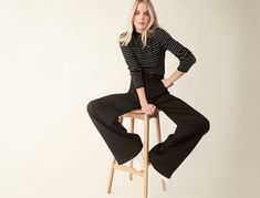 Fashion Uniform: Turtleneck + Wide-Leg Pants + Sneakers | Goop