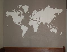 Diy world map wall mural wall murals clutter and classy paint a world map mural diy gumiabroncs Images
