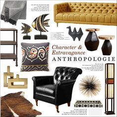 Character & Extravagance by szaboesz on Polyvore featuring interior, interiors, interior design, home, home decor, interior decorating, Zuo, HIDE, Jayson Home and Jonathan Adler