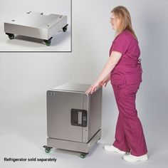 The Best of Both Worlds With the Evolve™ Stainless Steel Refrigerator, you enjoy precise temperature control without compromise. You don't have to compromise drug integrity and you don't have to compromise floor space. Now, you don't have to compromise mobility either.  The Mobile Pedestal for Evolve Refrigerator elevates the fridge and creates a mobile cold storage solution for critical meds.