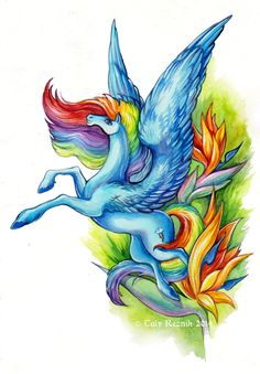 Flower Ponies - Rainbow Dash by TrollGirl.deviantart.com on @deviantART