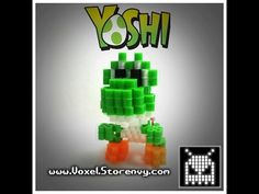 (Voxel) Make your own 3D Voxel Perlerbead Yoshi!