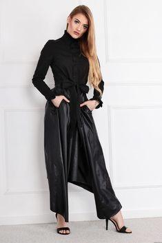 Sukienka POLA  z łączonych materiałów Retro Fashion, Duster Coat, Jackets, Style, Swag, Stylus, Cropped Jackets, Outfits, Jacket