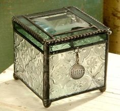 Stained Glass Tuscany Green Charm Box