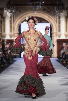 Carmen Acedo - We Love Flamenco 2018 - Sevilla Flamenco Dancers, Colorful Fashion, Our Love, Beautiful Dresses, Victoria, Style Inspiration, Pattern, Fashion Design, Minis