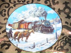 Country Crossroads Collector Plate Winter Rails Hamilton Train Ted Xaras Many Others Available @