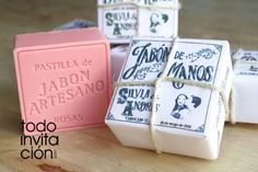 "Invitación ""Pastilla de Jabón"" Container, Wedding Invitations"
