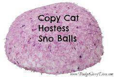 Copy Cat Hostess Sno Balls Recipe