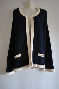 Plus Size Boucle Cardigan Nautical £12.99