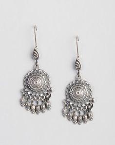 Silver Anusuya ES 2296 Dangle Earrings