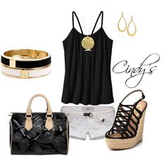 Black and Gold by cindycook10 on Polyvore