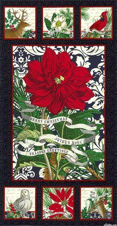"Joyeux Noel - Winter Grace - 24"" x 44"" PANEL - Quilt Fabrics from www.eQuilter.com"