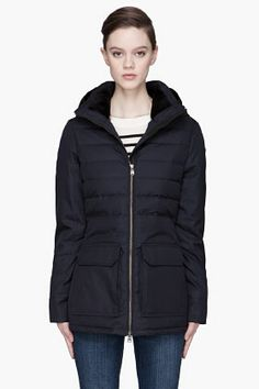 Canada Goose Navy Down Laurier Parka for women | SSENSE