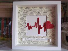 Love Wedding Valentine's Day Gift Shadow box by WishingStarByCris