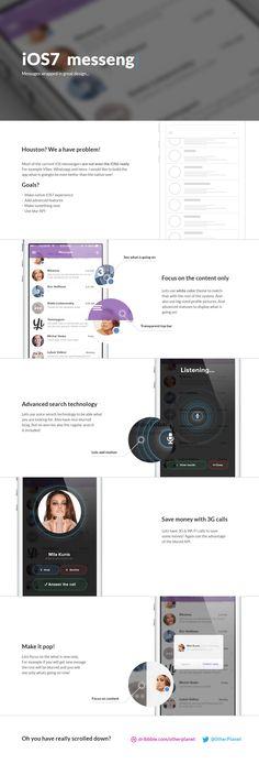 Messages on study / Luboš Volkov Interface Design, User Interface, Message App, Mobile App Templates, Tablet Ui, Mobile Ui Design, Ui Design Inspiration, Ios 7, Ui Web