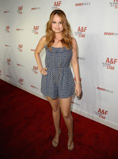 Debby Ryan%u2019s Ruffled Romper: Get Her Printed Shorts Outfit For�$58