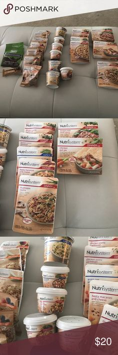 A week of nutrisystem food 7 breakfast 7 lunches..7 dinners. 2 turbo shakes  1 crush bar nutrisystem Other