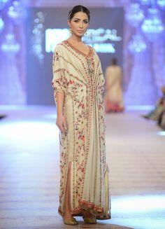Kaftan maxi kameez with robe front and ruched sleeves Pakistan Fashion, India Fashion, High Fashion, Caftan Dress, Kaftan, Bridal Dresses 2015, Misha Lakhani, Pakistani Couture, Edwardian Dress
