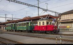 49 Appenzeller Bahnen (Switzerland) Ge at Appenzell, Switzerland by Georg Trüb Railroad Pictures, Swiss Railways, Train Art, Light Rail, 49er, Around The Worlds, Trains, Locomotive