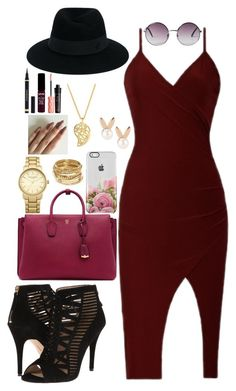 """""""let's go party party"""" by hannahgeronimo ❤ liked on Polyvore featuring Nine West, Maison Michel, Monki, MCM, Aamaya by priyanka, Topshop, ABS by Allen Schwartz, Sonal Bhaskaran, Yves Saint Laurent and NYX"""