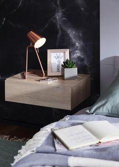 Trendig & platzsparend: Nachtkästchen Dream Floating Nightstand, Table, Furniture, Home Decor, Bedroom, Ideas, Design, Products, Bedroom Inspiration