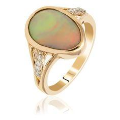 Coloured Gem Rings Engagement Rings Australia, Opal Rings, Gemstone Rings, Present For Girlfriend, Australian Black Opal, Diamond Rings For Sale, Vintage Style Rings, Dress Rings, Yellow Gold Rings