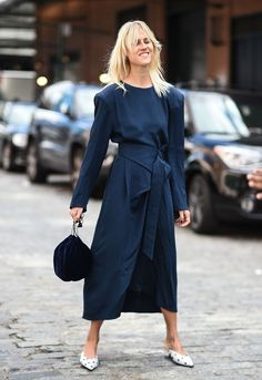 Linda Tol is seen outside the Tibi show during New York Fashion Week: Women's S/S 2018 on September 9, 2017 in New York City