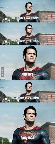 Superman...He's an alien but ICE won't dare deport him. Some racist stuff lol