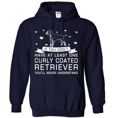 Curly Coated Retriever T-Shirts, Hoodies. Check Price Now ==► https://www.sunfrog.com/Pets/Curly-Coated-Retriever-8247-NavyBlue-Hoodie.html?id=41382
