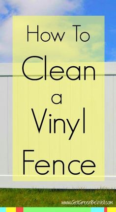 How to clean a white vinyl fence. The one natural product that will remove dirt, mold, mildew and grime from your backyard fencing. Try it right not and see how it works! You probably already have this ingredient in your kitchen!
